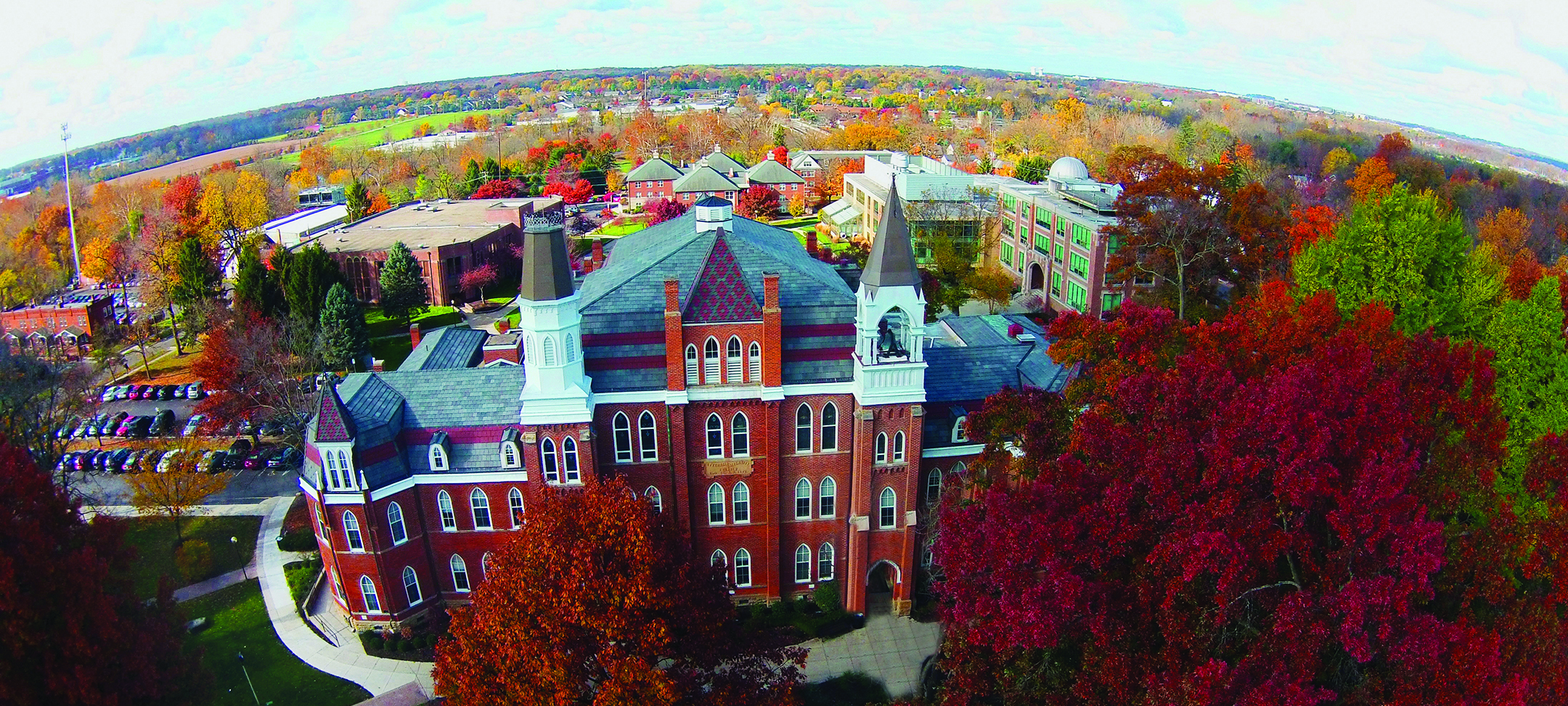 Aerial view of Otterbein