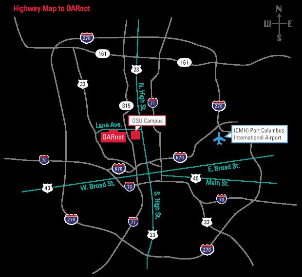 Visit OARnet OARnet - Central ohio map