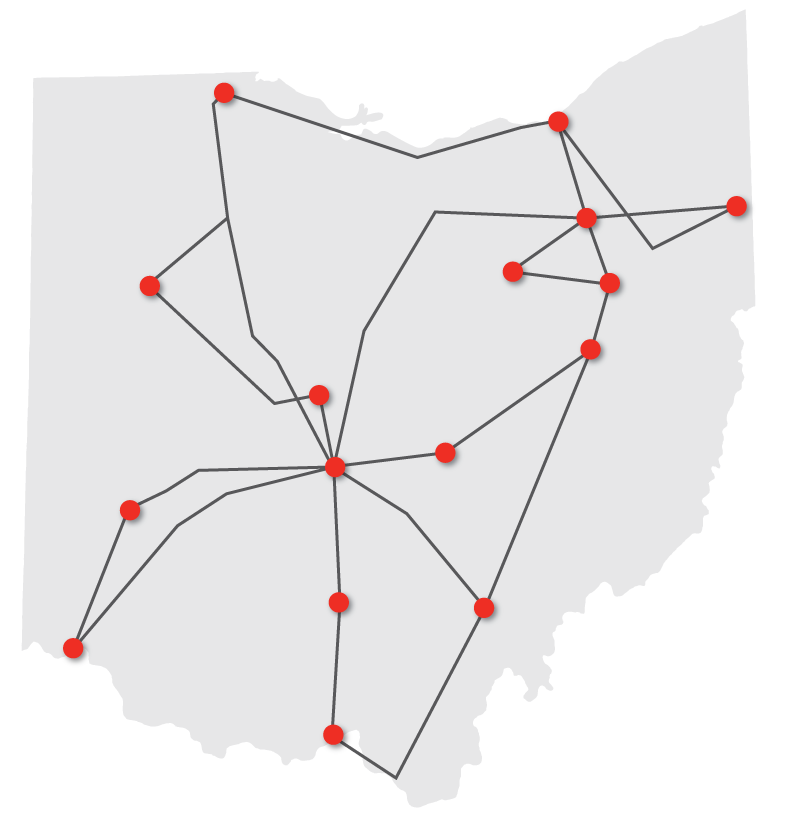 Network Overview OARnet - Us fiber optic network map